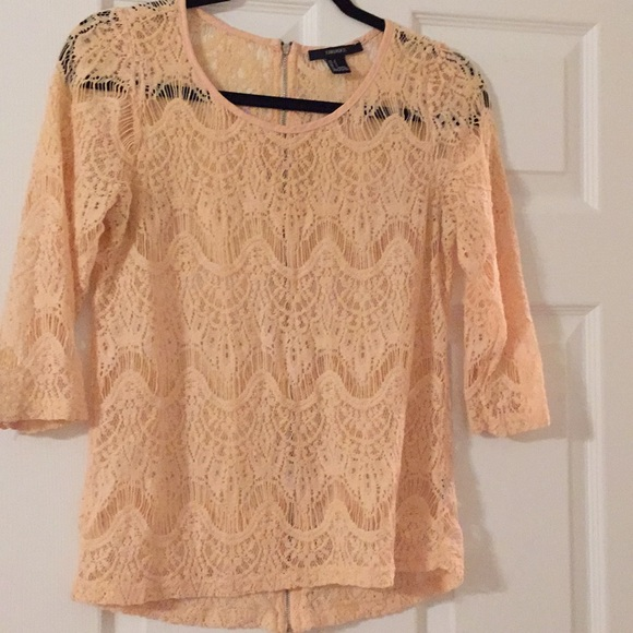 Forever 21 Tops - Lite pink see through blouse